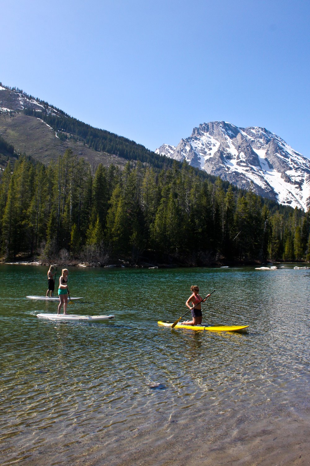 Stand Up Paddleboarding In Jackson Hole Mountain Modern
